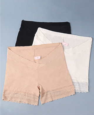 New Pregnant Women Bottom Safety Pants Low Waist Lace Cross V-shaped Tummy Underwear