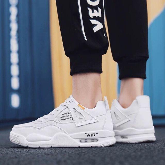 [Mã WASKT4154 giảm 15% tối đa 30K đơn 150K] Giày nam trắng full đẹp