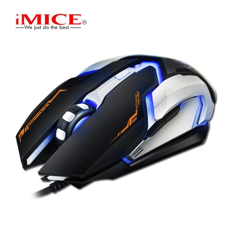 Mouse Gaming IMICE V6 Dây dù - Led 7 màu