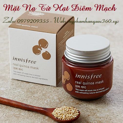 Mặt Nạ Chiết Xuất Từ Hạt Diêm Mạch – Innisfree Real Quinoa Mask
