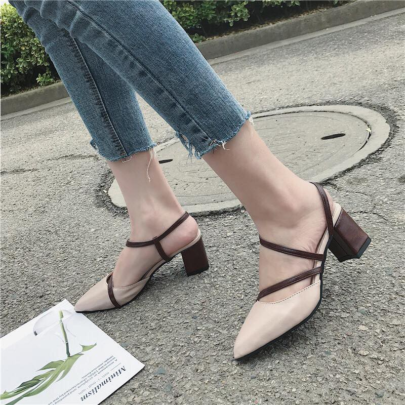 order giày đan dây 6cm