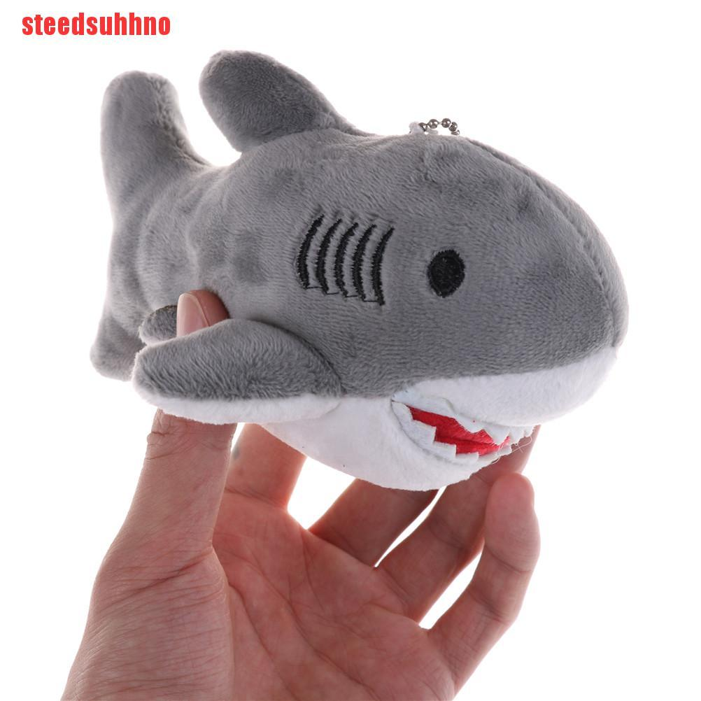 (QSE-COD)18cm Shark Plush Toy Kawaii Bag Backpack Pendant Keychain Stuffed Animals Toy