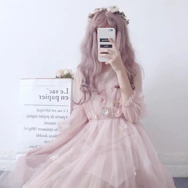 Đầm công chúa đính bướm ulzzang kèm ảnh thật 🌟🌙