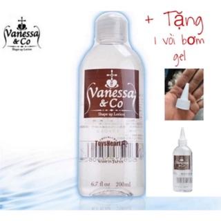 Gel Bôi Trơn Nhật Bản Trong Suốt Vanessa & Co 200ml tặng kèm vòi bơm gel tiện dụng