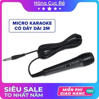 Micro có dây jack 6.5 🔴Freeship🔴 Micro karaoke dây dài 2m thu âm chống hú cực hay giá rẻ – Shop Hàng Cực Rẻ