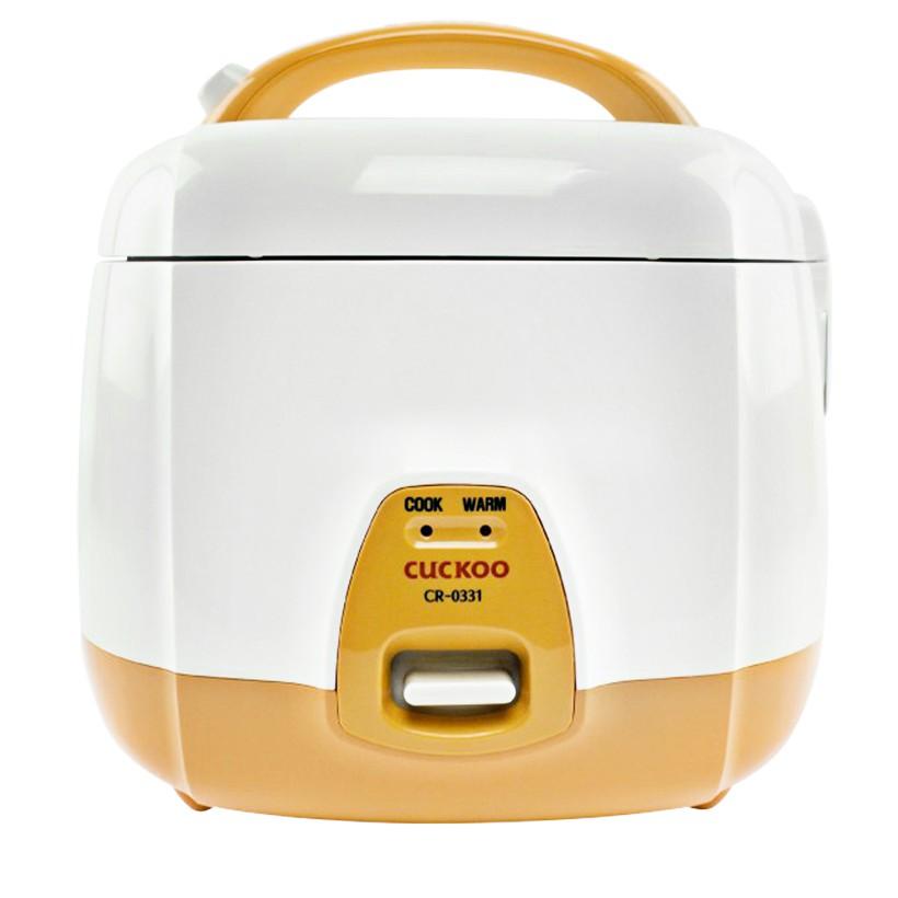 Nồi cơm điện Cuckoo CR- 0331, 0.5L 360W (Trắng cam) - 2984265 , 161703879 , 322_161703879 , 1220000 , Noi-com-dien-Cuckoo-CR-0331-0.5L-360W-Trang-cam-322_161703879 , shopee.vn , Nồi cơm điện Cuckoo CR- 0331, 0.5L 360W (Trắng cam)