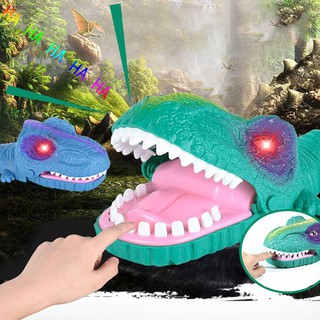 Luminous Dinosaur Dentist Game Classic Biting Hand Finger Toys Funny Party Game