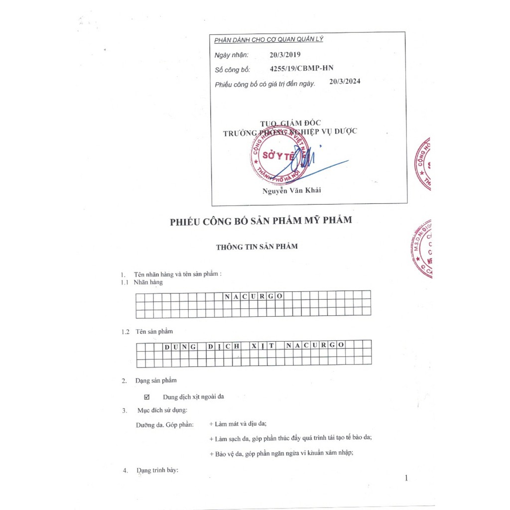 [CHÍNH HÃNG] NACURGO - Dung dịch xịt bảo vệ da