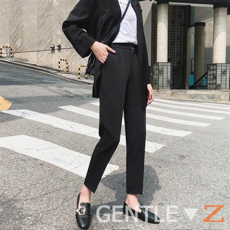 Quần Baggy nữ lưng cao - Kiểu quần tây nữ Hàn Quốc BASIC rất dễ phối đồ đi học - đi làm - đi chơi - công sở