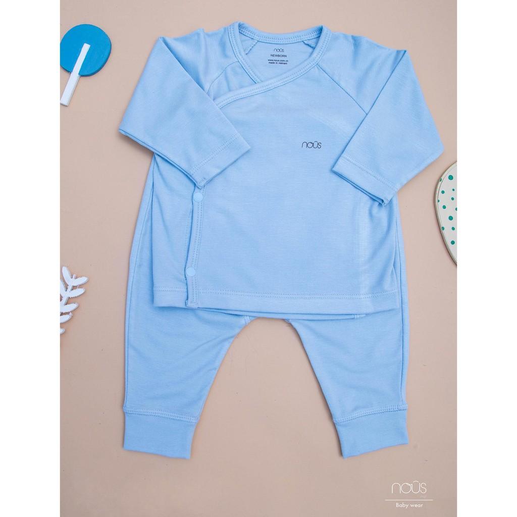 Bộ cài lệch Nous petit Newborn hồng-xanh-trắng 0-3m