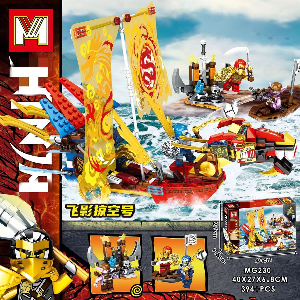 Đồ chơi lắp ráp Lego Ninjago MG 230 Xếp Mô Hình Minifigures Thuyền Rồng  Ninja Season Phần 13 gồm 394 chi tiết chính hãng 225,000đ