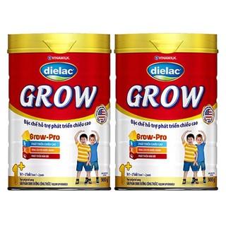 Sữa bột Dielac Grow đỏ 1+ 2+ hộp thiếc 900g (Date luôn mới) thumbnail