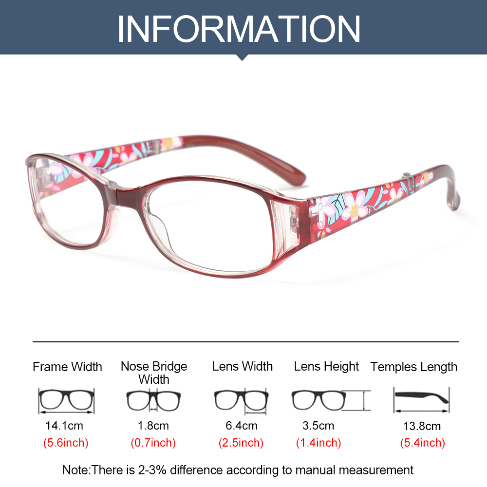 🌟YEW🌟 Fashion Foldable Reading Eyeglasses Radiation Protection Folding Presbyopia Eyewear Anti-blue Light Glasses Printing Vision Care Vintage Classic Men Women...