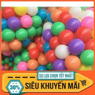 [CỰC HOT] 100 quả bóng nhựa nhiều màu cho bé vui chơi
