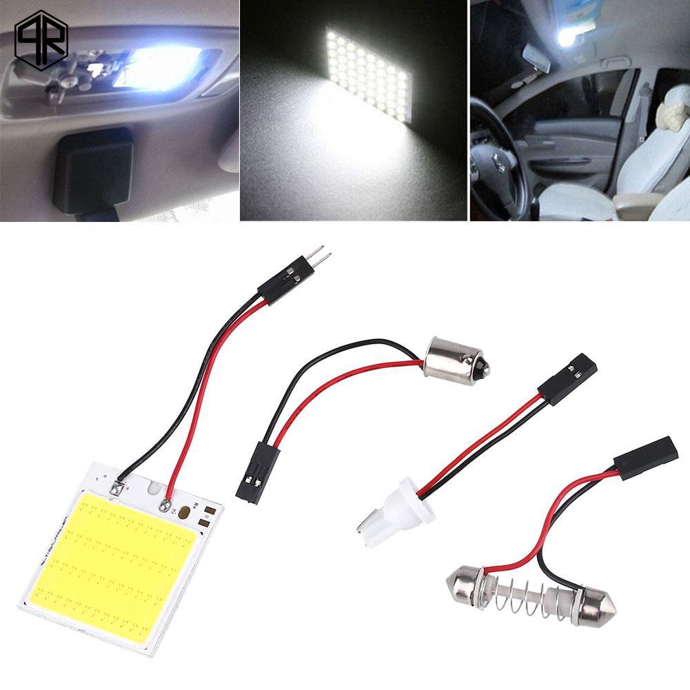 Đèn trong xe hơi , bóng LED ánh sáng trắng T10 4W 12V 48SMD