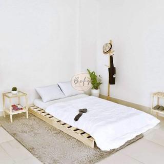 Giường Pallet / Giường Ngủ Pallet Gỗ Thông Gấp Gọn / Giường Gỗ Cho Homestay 1m – 1m8 – BEFY