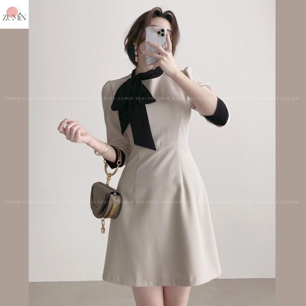 Mặc gì đẹp: Sang trọng với Đầm thiết kế cao cấp ZuMin vải chéo Hàn Quốc thanh lịch sang trọng, Váy thiết kế cao cấp, Đầm công sở, Đầm đi chơi