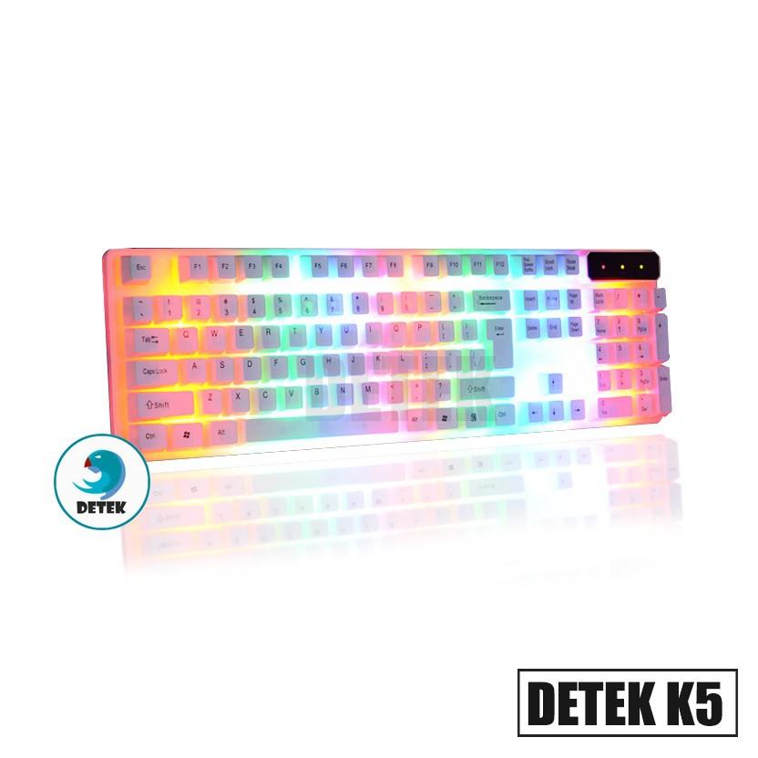 Bàn phím game thủ giả cơ Detek K5 LED