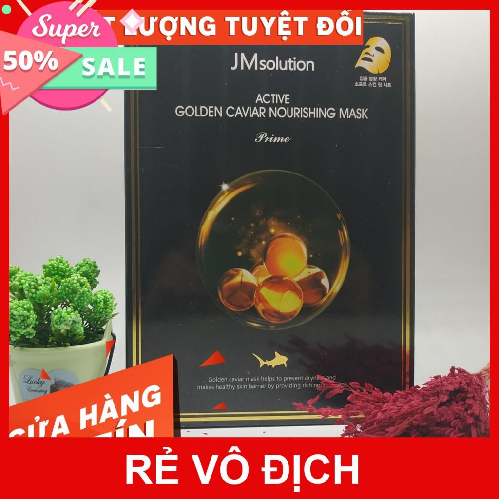 HÀNG CÓ SẴN 2020 [ BILL] Mặt nạ trứng cá vàng JM SOLUTION ACTIVE GOLDEN CAVIAR NOURISHING MASK