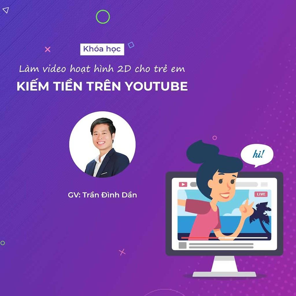 [Voucher-Khóa Học Online] Hướng dẫn làm video hoạt hình 2D kiếm tiền trên Youtube với Camtasia - Toàn Quốc - HereEast