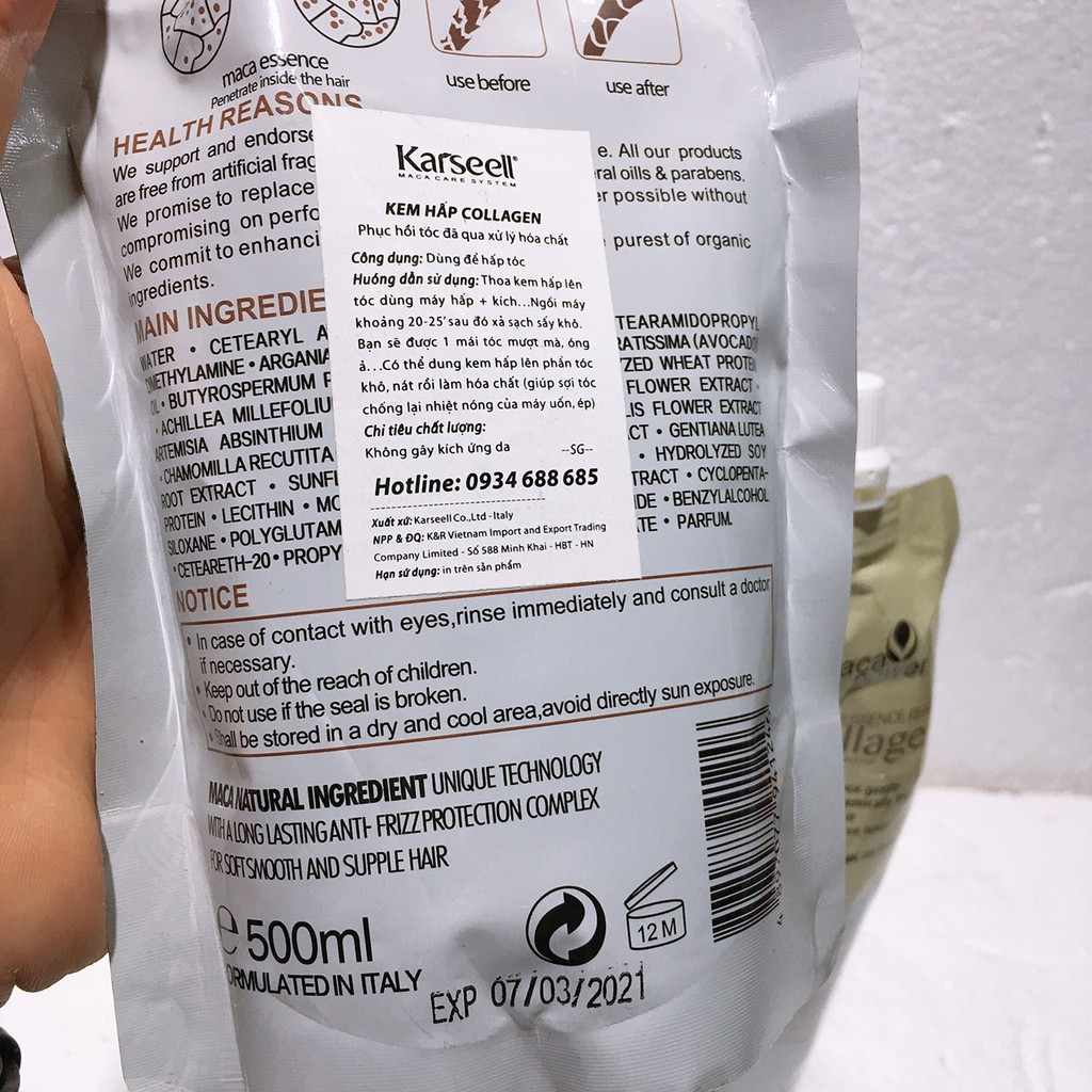 Dầu Hấp Tóc Collagen Phục Hồi
