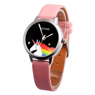 Đồng hồ đeo tay cho bé gái hình ngựa 1 sừng dây da sành điệu BBShine DH010 thumbnail