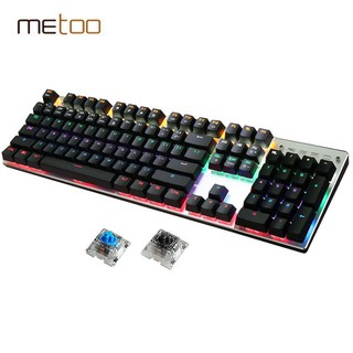 [RẺ VÔ ĐỊCH] Bàn phím cơ Metoo Zero Fullsize 104 phím 13 chế độ Led thumbnail