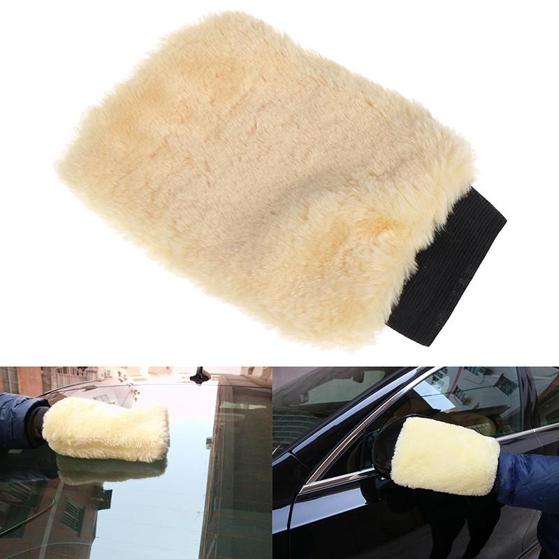 FMVN 1Pc Microfiber plush car soft mitten detailing washing glove cleaning tool