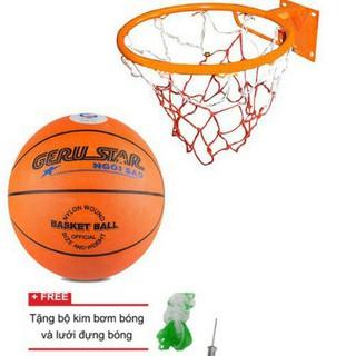 [HÀNG CHUẨN] Combo Vành rổ zensport 40cm + quả bóng rổ No 6 (bộ sản phẩm đầy đủ) [Queensport92]