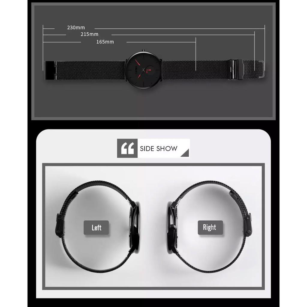 Đồng Hồ Thời Trang Nam SKMEI 9185 phong cách Công Sở chống nước dây thép không gỉ