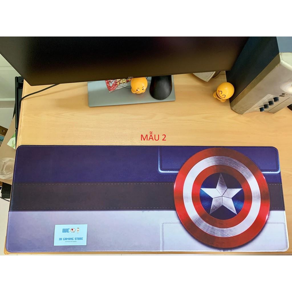 [80x30x0.3] Miếng Lót chuột, bàn di chuột cỡ lớn Avengers , Siêu Anh Hùng