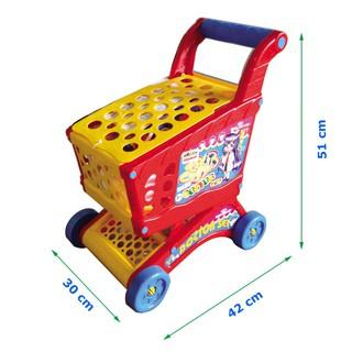 Xe đẩy siêu thị chứa dụng cụ bác sỹ