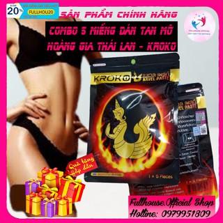 [ CHÍNH HÃNG ] 5 Miếng Dán Tan Mỡ Bụng Kroko Detox Thái Lan Navel Paste