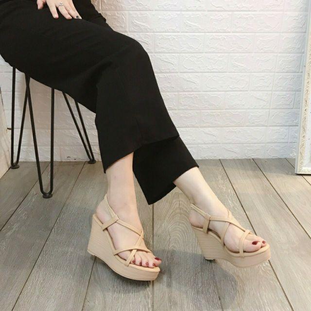 Giày Xuồng cao gót 9p dây chéo mảnh mẫu mới siêu hot