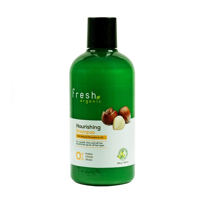 Hình ảnh [FMSCCHOLIDAY - GIẢM 30k - ĐƠN TỪ 150k] Dầu gội Fresh Organic Maccadamia Oil 250g chính hãng-1