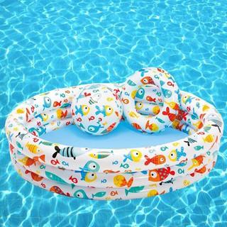 (Hàng Chuẩn) Bể Bơi 3 Tầng Tặng Kèm Bóng Hơi Và Phao Cho Bé