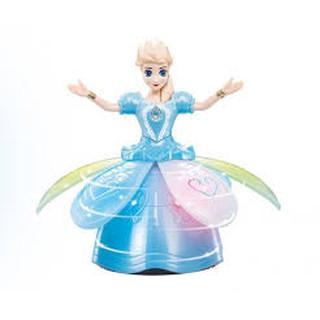 công chúa xoay phat nhạc 360 độ(xanh,hồng)
