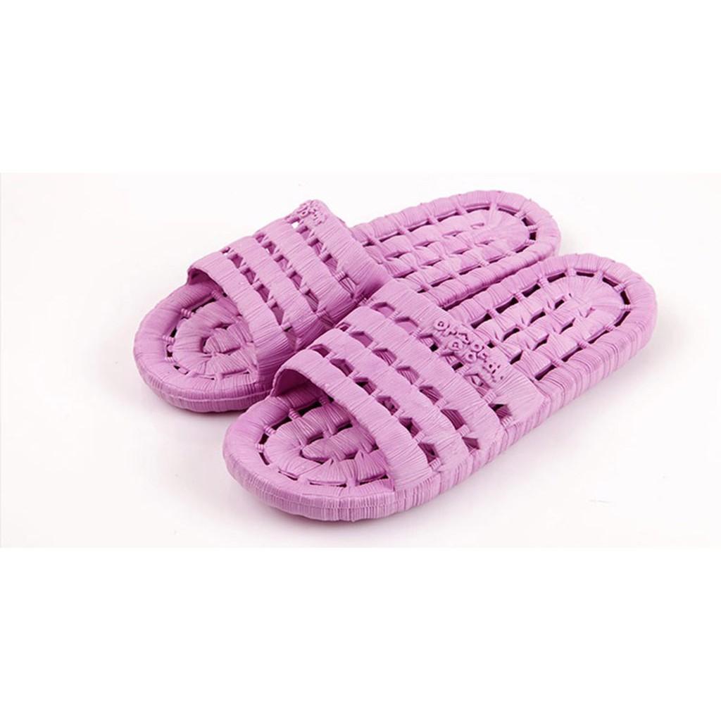 dép nữ nam đi trong nhà dép lê chống trơn có thể đi trong nhà tắm vệ sinh siêu mềm êm chân đủ màu đủ size