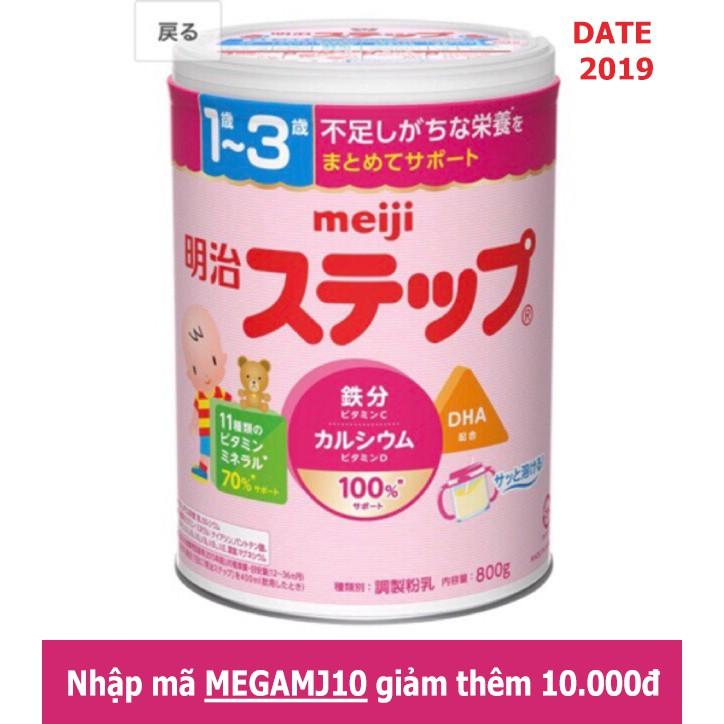 (Voucher MEGAMJ10-10k) Sữa Meiji số 1-3 hàng nội địa Nhật 800g date 2019 (mẫu mới nhất)
