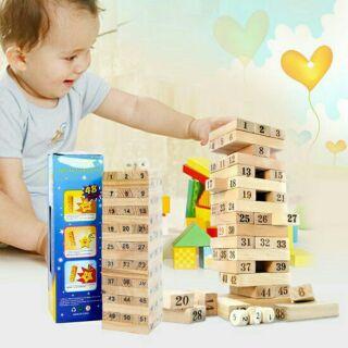Bộ đồ chơi rút gỗ 54 thanh (loại to)