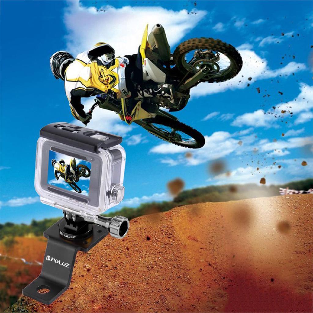 PULUZ PU114 Aluminum Alloy Motorcycle Fixed Holder Mount For GoPro Camera