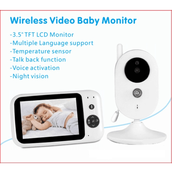 3.5 Inch Audio Video Receiver Wireless Digital Video Kids Baby Sleeping Monitor Night Vision Sensor