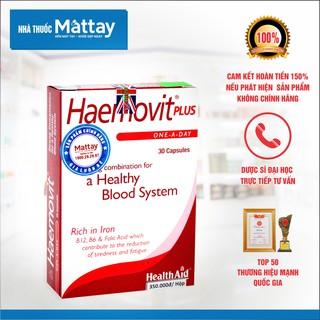 Haemovit Plus - HealthAid - Hộp 30 Viên - Giúp Bổ Máu, Tăng Cân Hiệu Quả [Date xa] thumbnail