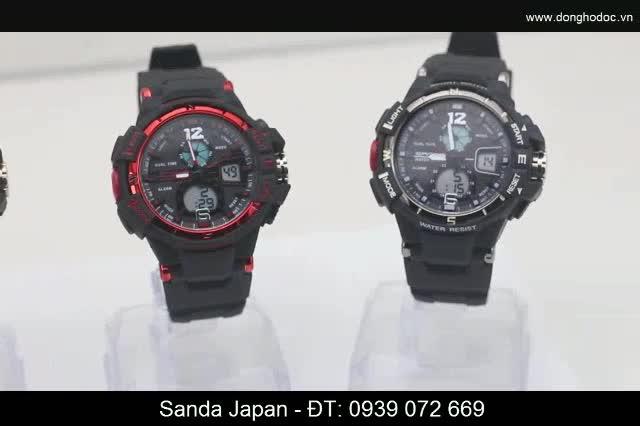 Đồng hồ thể thao nam SANDA JUSTIN JAPAN Chống nước Siêu bền