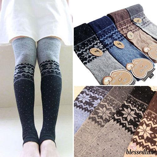 ❤XZQ-Women Snowflake Thigh High Leg Warmers Stocking