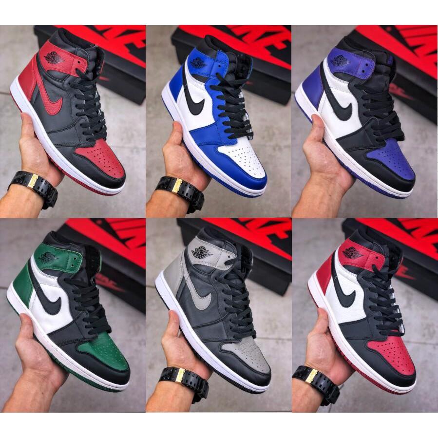 Nike air jordan 1 giày bóng rổ retro cho nam giày nữ AJ1 giày thể thao đế thấp hàng đầu 36-45