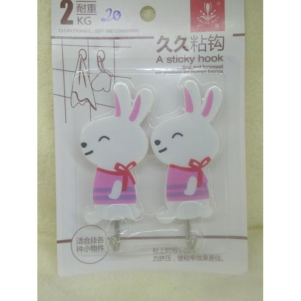 Móc dán tường hình chú thỏ - 3020788 , 739191066 , 322_739191066 , 15000 , Moc-dan-tuong-hinh-chu-tho-322_739191066 , shopee.vn , Móc dán tường hình chú thỏ