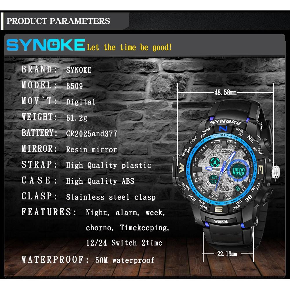 Đồng hồ điện tử SYNOKE đa chức năng , chống thấm nước 50m