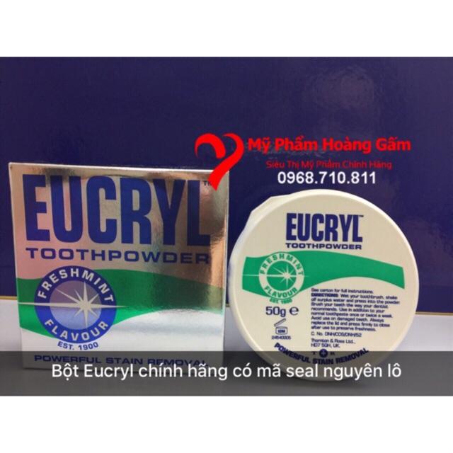 bột tẩy trắng răng Eucryl 50g Anh Quốc