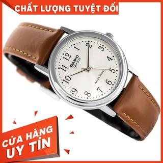 HOT Đồng hồ nam/nữ Casio MTP-1095E-7BDF - Dây Da - Mặt số - Chống nước 5 ATM chính hãng